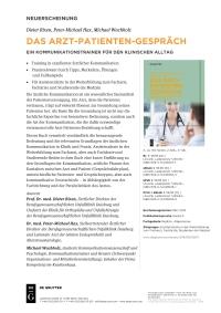 Flyer Das Arzt-Patienten-Gespräch